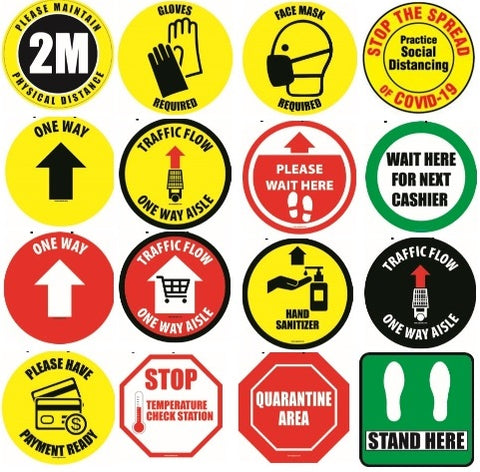 Footfall, Safety Signs COVID-19