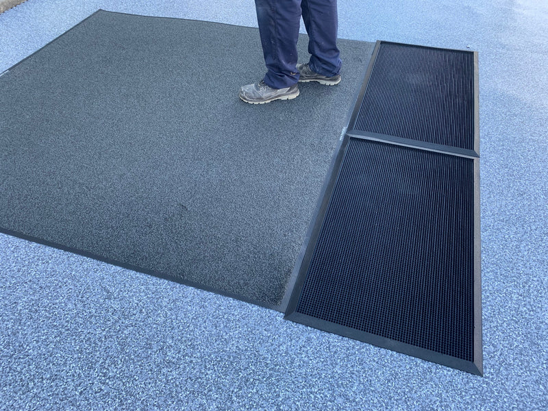 Bunded Contamination Control Mats (x2) with Large Safety Mat Package