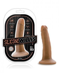 Silicone Willys 5.5 inches Dildo with Suction Cup Mocha by Risque Fetish Toys