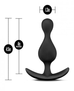 Anal Adventures Wave Plug Black by Risque Fetish Toys