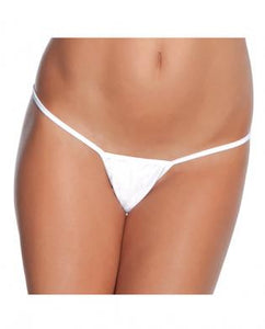 Low rise lycra g-string white xl by Risque Fetish Toys