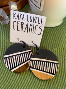 Big black and gold earrings