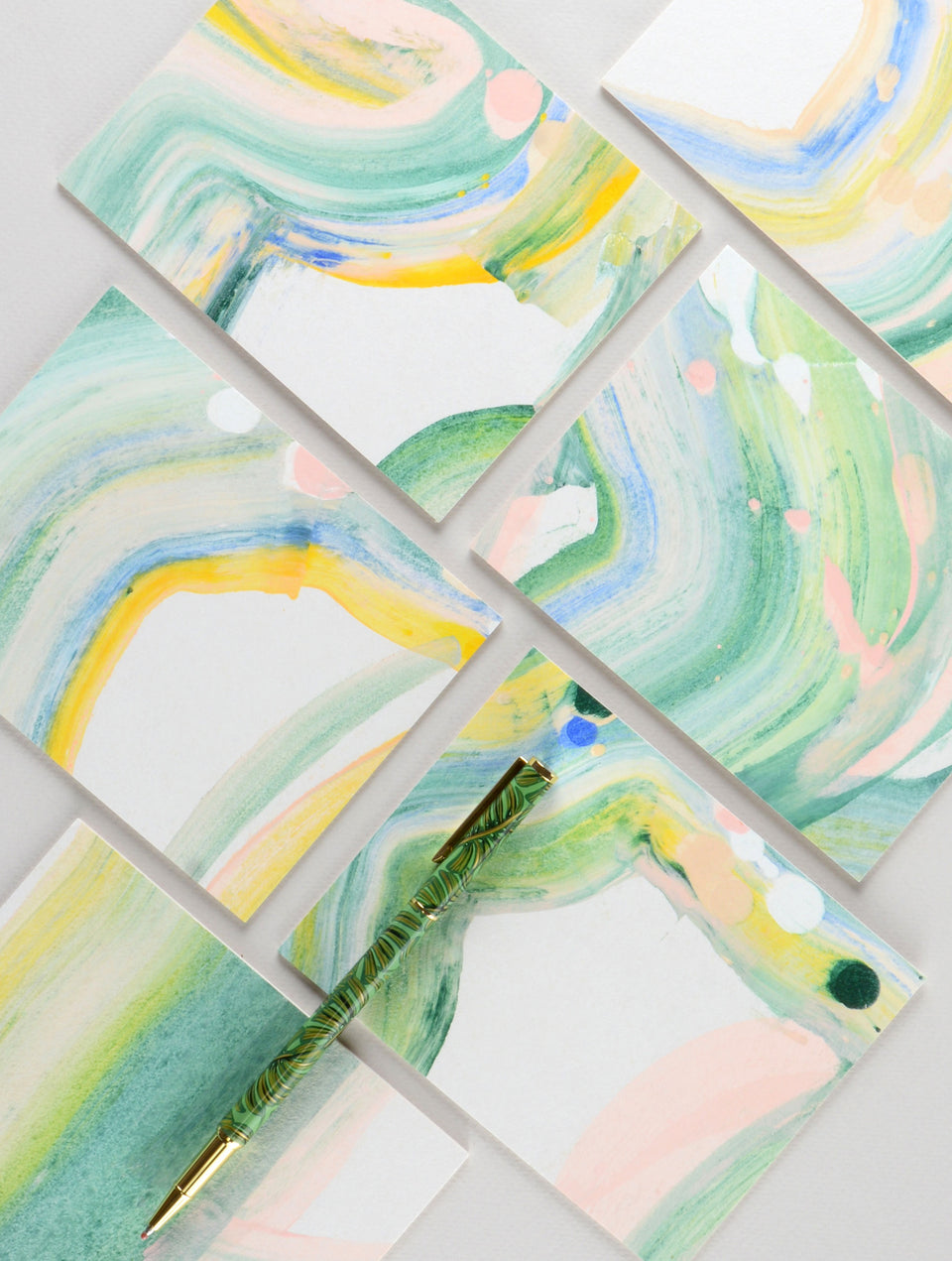 moglea hand-painted note cards