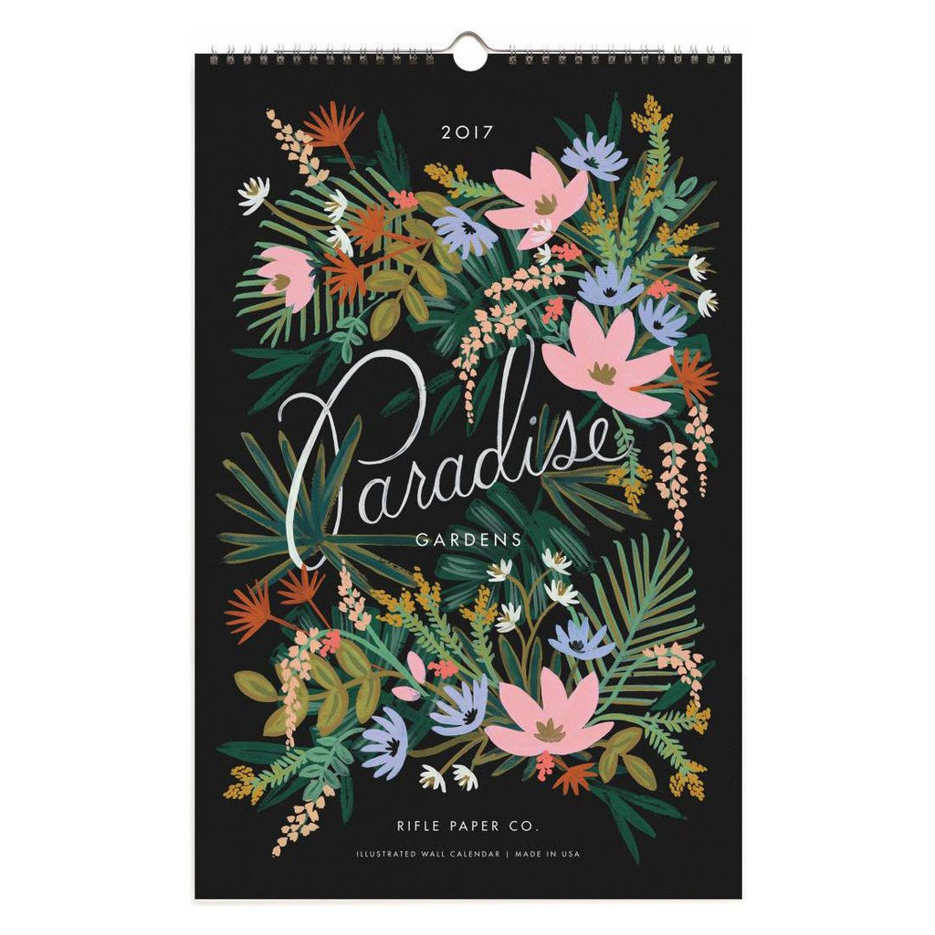 2017 Paradise Gardens Wall Calendar By Rifle Paper Co. - 1