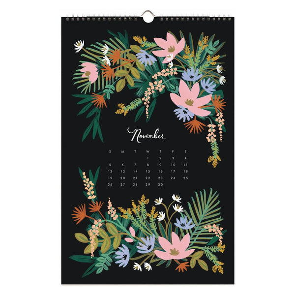 2017 Paradise Gardens Wall Calendar - GREER Chicago Online Stationery