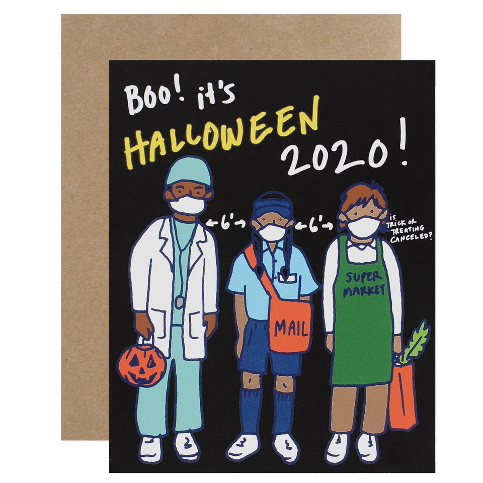 La Familia Green 2020 Costume Kids Halloween Card