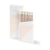 42 Pressed Blush Pink Box Pencil Set Of Ten - GREER Chicago Online Stationery Shop