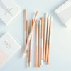 42 Pressed Blush Pink Box Pencil Set Of Ten
