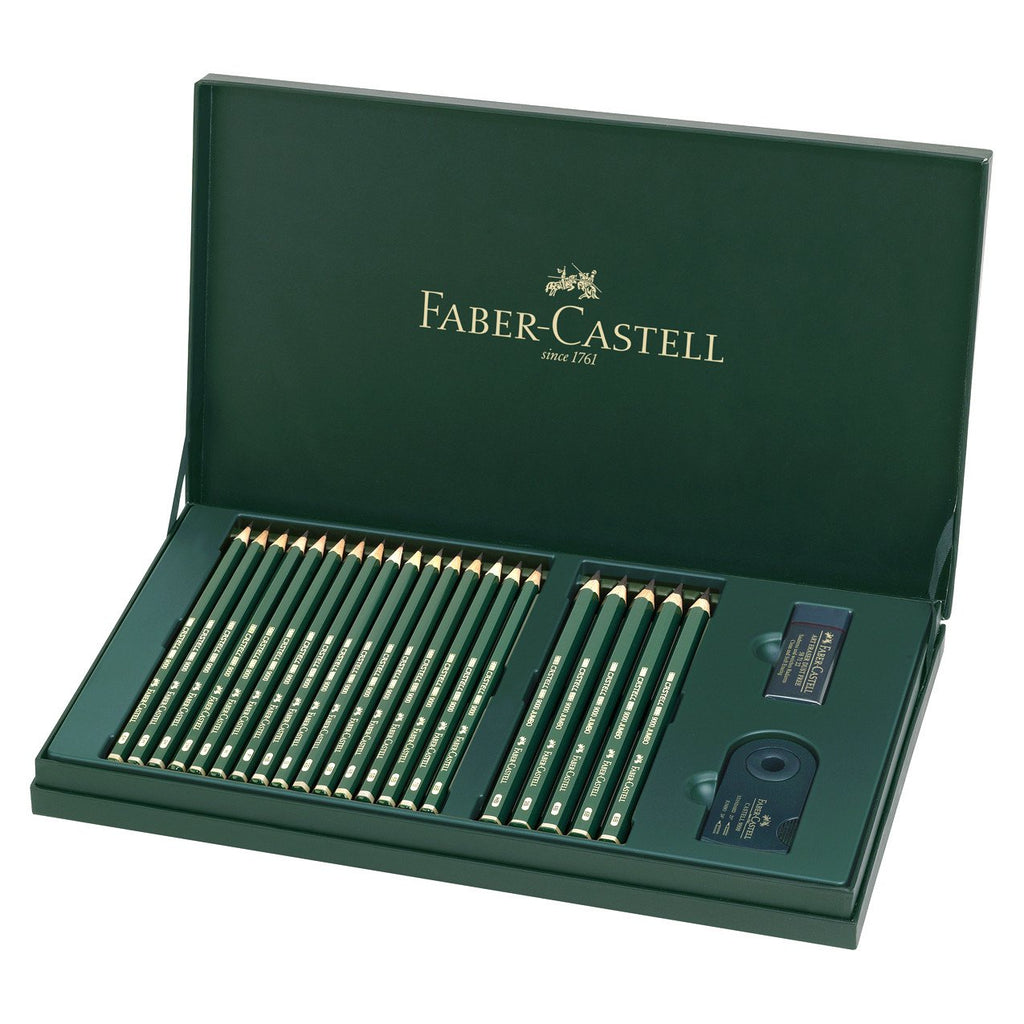 Castell 9000 Pencil Gift Box Set In 16 Degrees Of Hardness By Faber-Castell - 1