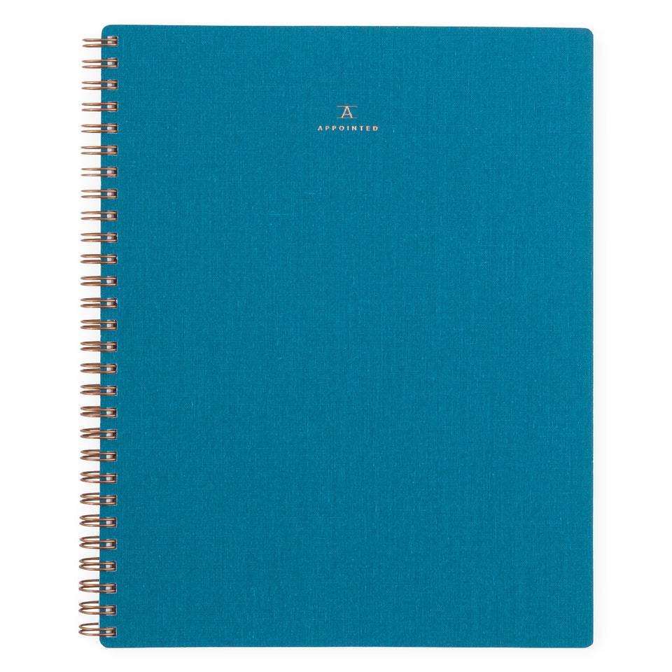 Appointed Greer x Appointed Lake Blue Notebook Lined