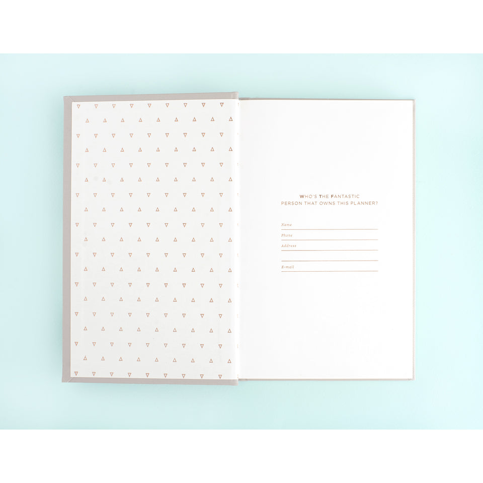 Hadron Epoch LA 2020 17-Month SMTWTFS Linen Hardcover Monthly/Weekly Planner | 3 Cover Options