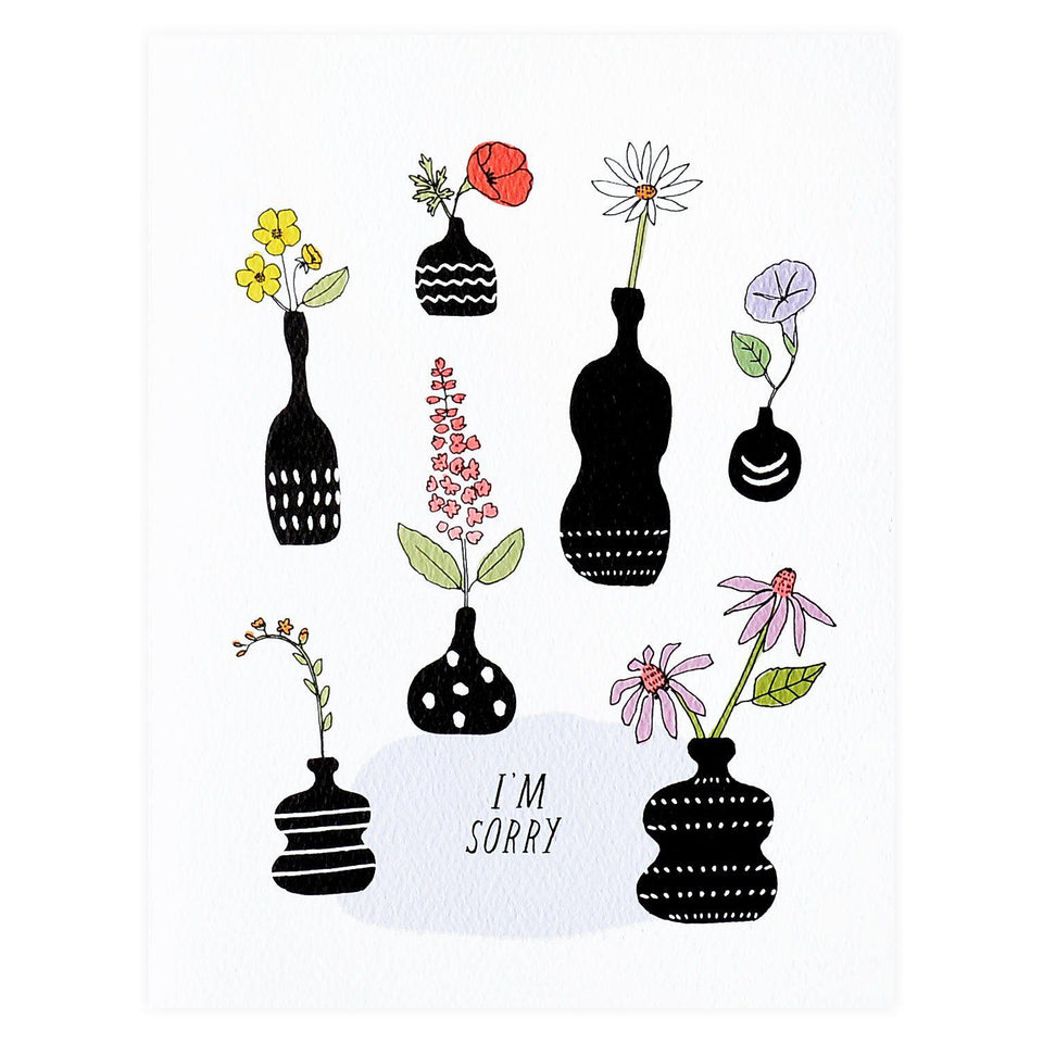 Hartland Brooklyn I'm Sorry Vases Sympathy Card