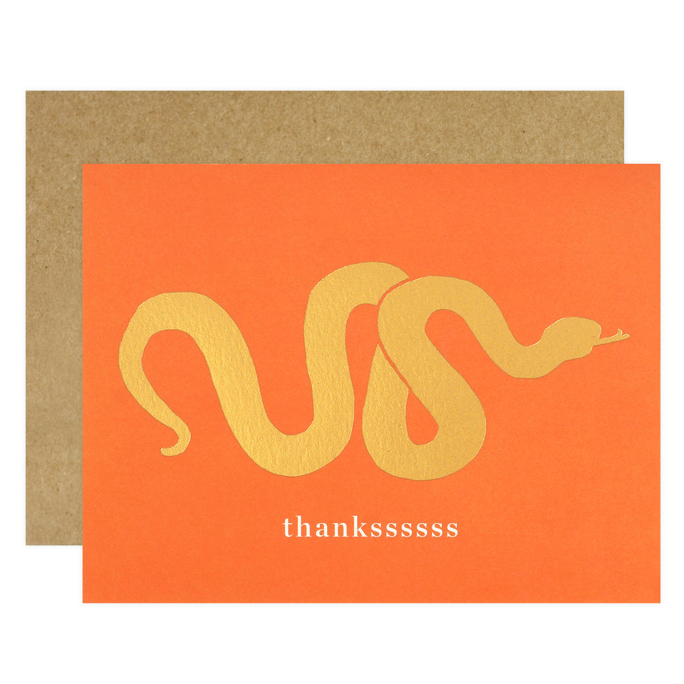 J.Falkner Golden Snake Thankssssss Card Boxed or Single