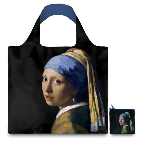 Johannes Vermeer Girl with a Pearl Earring Reusable Bag By LOQI - 1
