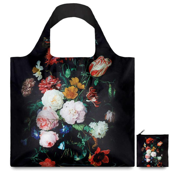 de Heem Still Life with Flowers in a Glass Vase Reusable Tote Bag By LOQI - 1