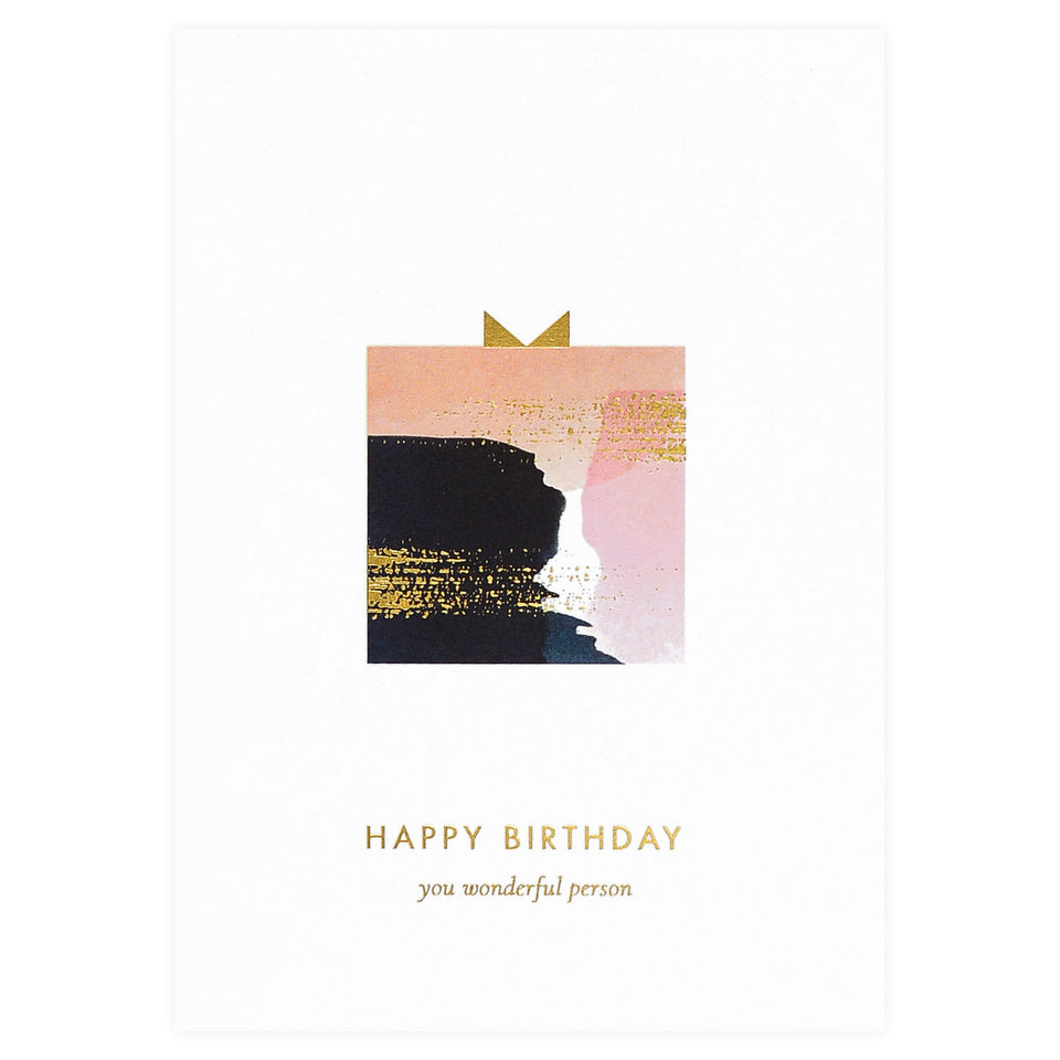 À L'aise Happy Birthday Watercolor Greeting Card