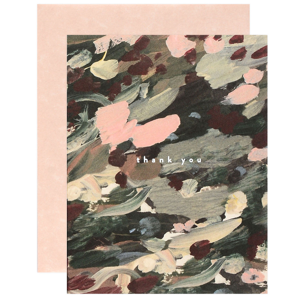 Moglea Abstract Floral Thank You Cards Single or Boxed