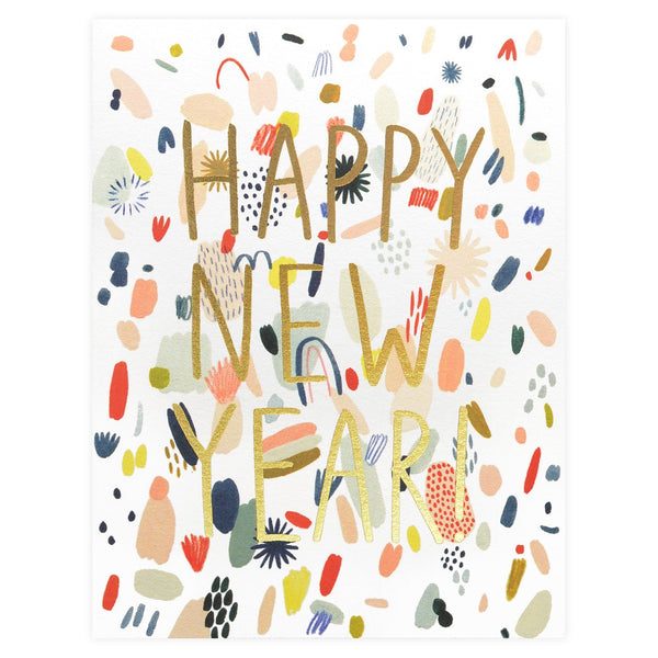 Abstract New Year Boxed Cards By Red Cap Cards
