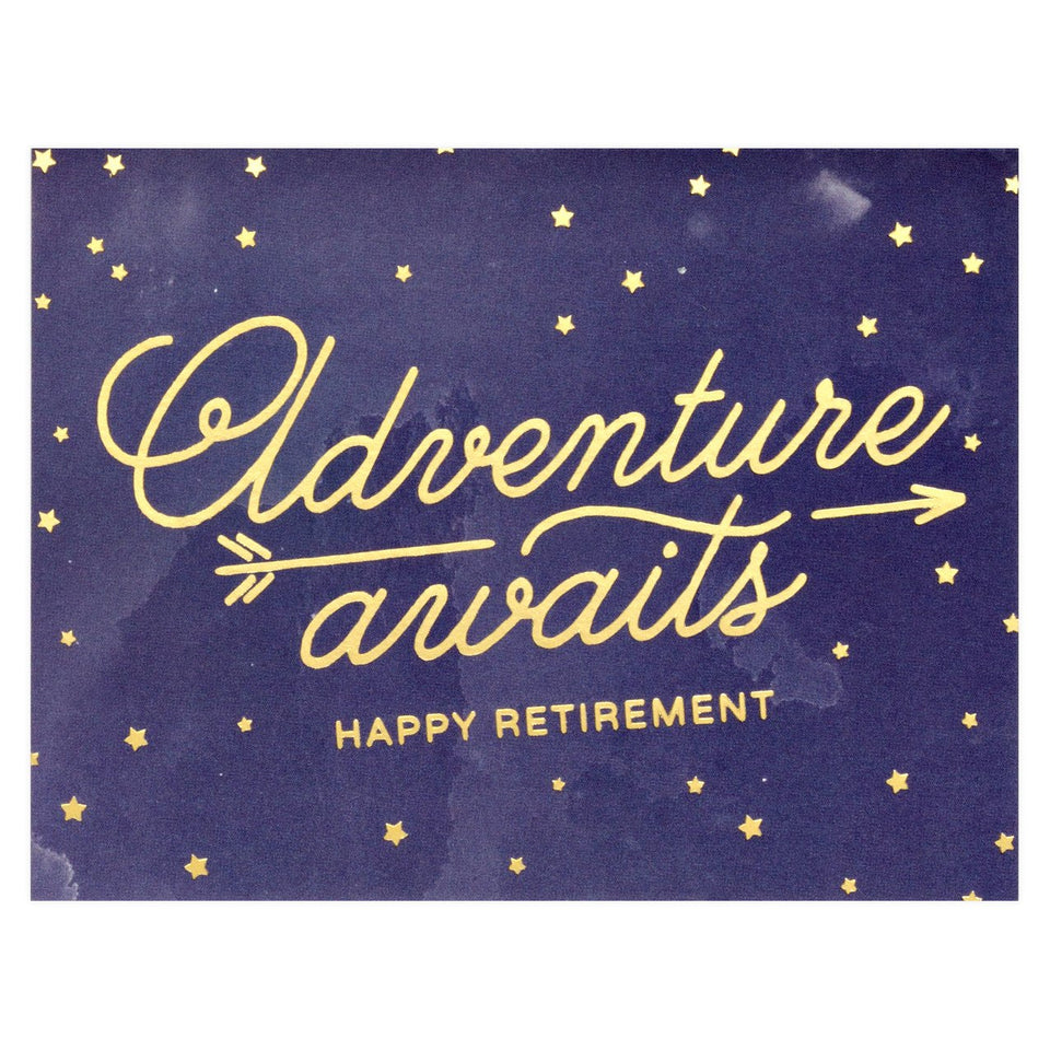 The Social Type Adventure Awaits Retirement Greeting Card