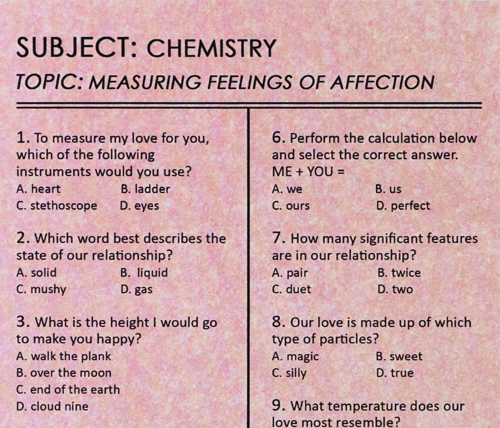 Affection Exam Card By Regional Assembly of Text - 3