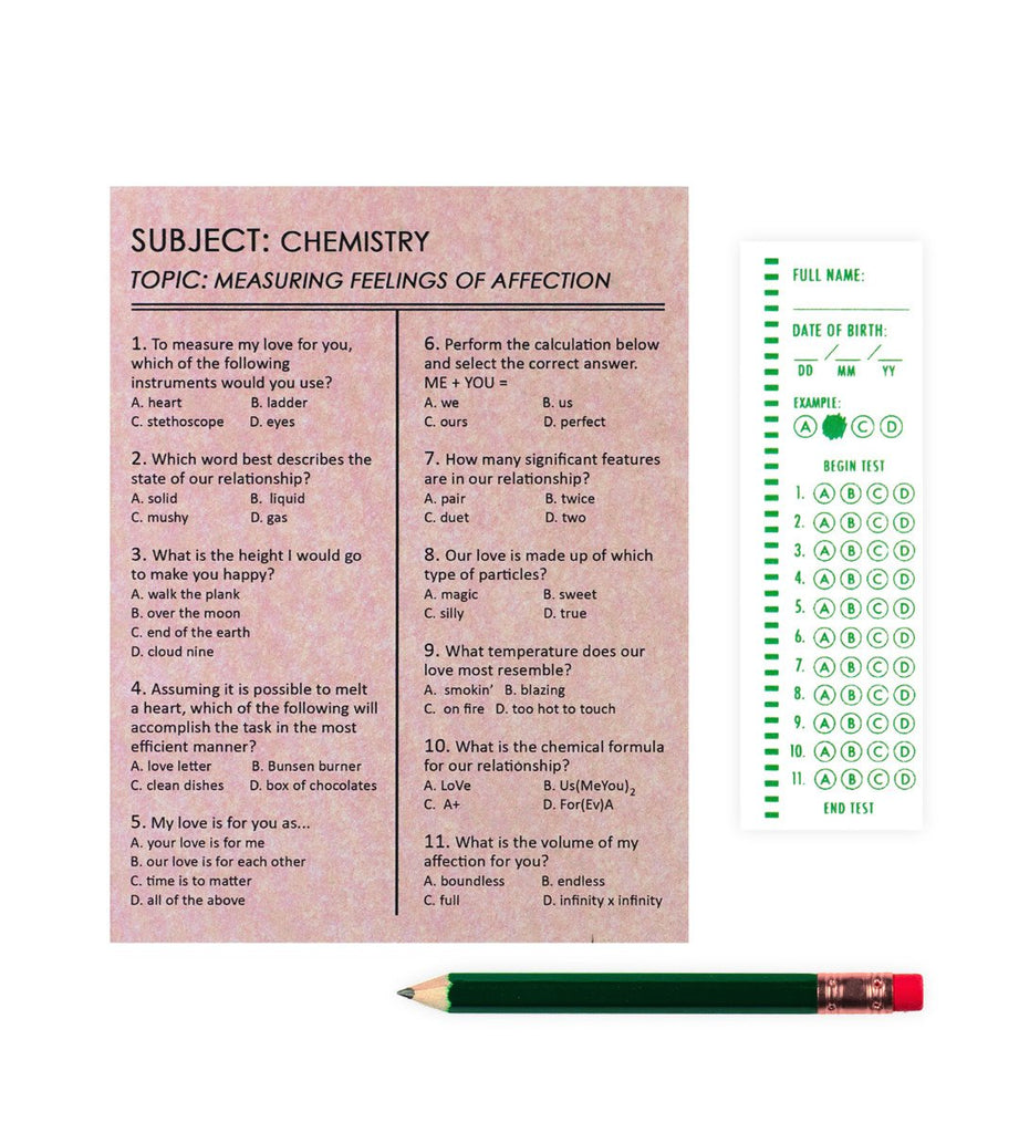 Affection Exam Card By Regional Assembly of Text - 1