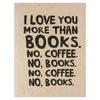 Alisa Bobzien Books and Coffee Greeting Card - GREER Chicago Online Stationery Shop