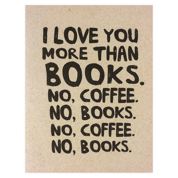 Books and Coffee Greeting Card - GREER Chicago Online Stationery