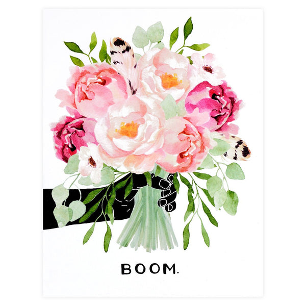 Alisa Bobzien Peonies BOOM Greeting Card - GREER Chicago Online Stationery Shop