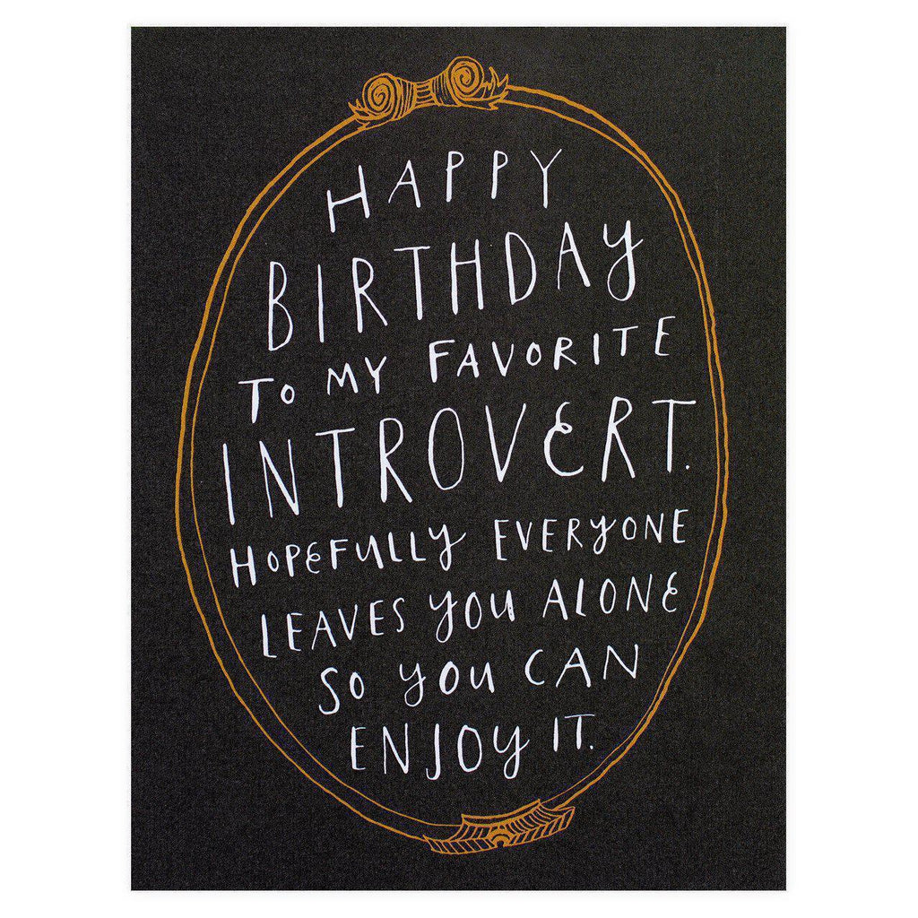 Party Of One Paper Introvert Birthday Card
