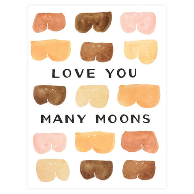 Alisa Bobzien Many Moons Greeting Card - GREER Chicago Online Stationery Shop