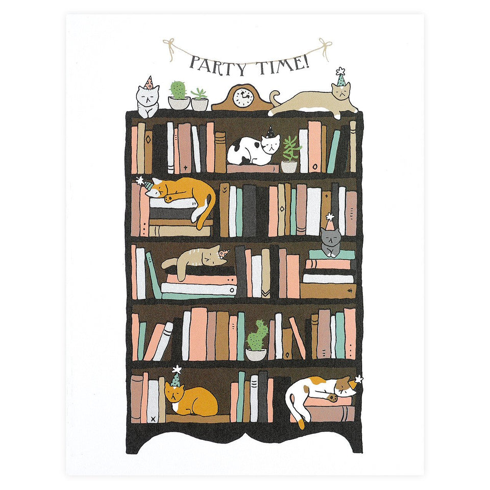 Party Of One Paper Party Cats Birthday Card