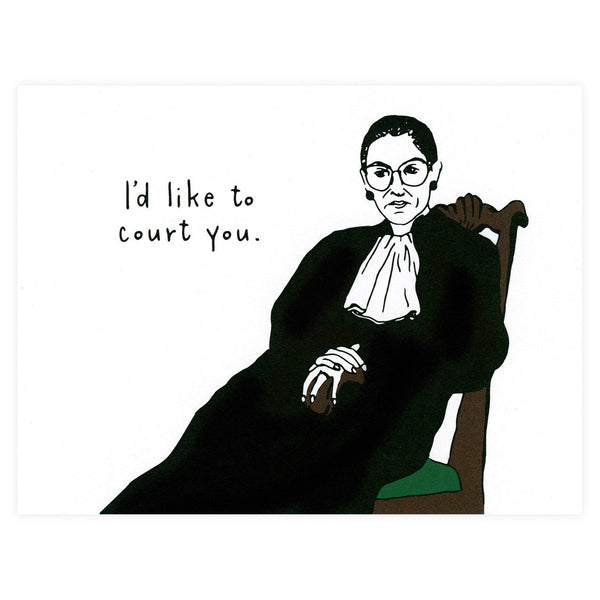 Alisa Bobzien Ruth Bader Ginsburg Court You Greeting Card - GREER Chicago Online Stationery Shop