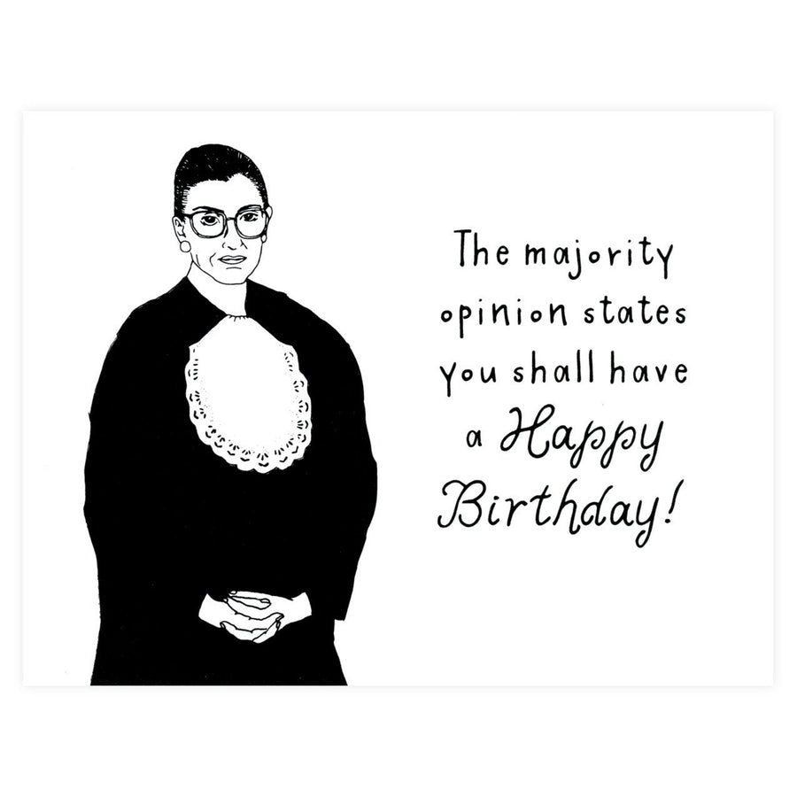 Ruth Bader Ginsburg Birthday Card Party Of One Paper  - GREER Chicago