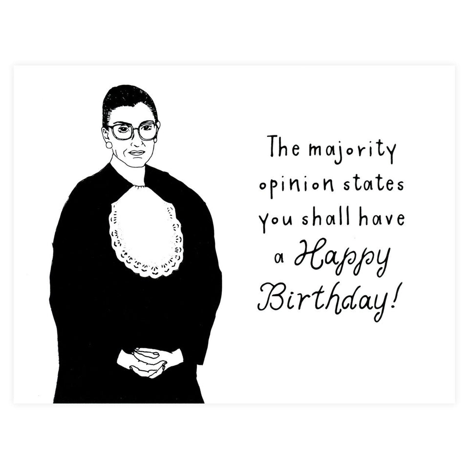 Party Of One Paper Ruth Bader Ginsburg Birthday Card