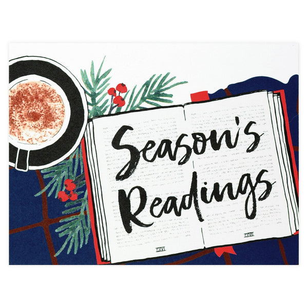 Alisa Bobzien Season's Readings Holiday Cards Boxed - GREER Chicago Online Stationery Shop