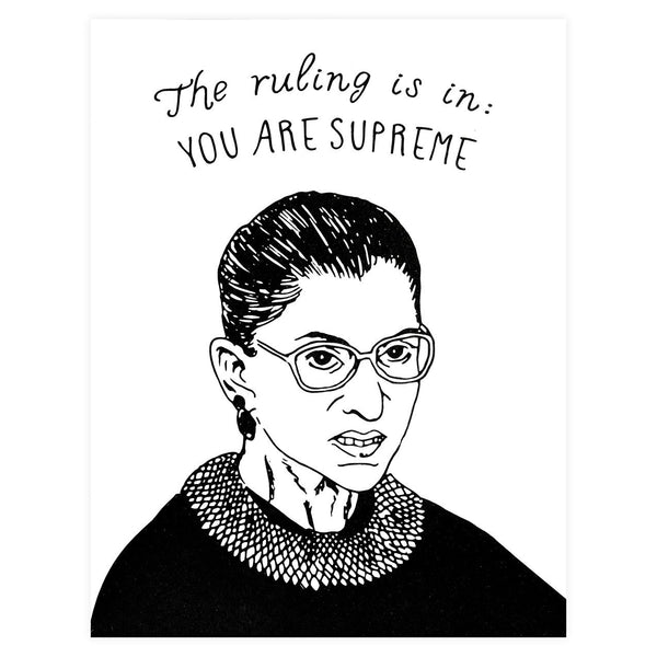Ruth Bader Ginsburg You Are Supreme - GREER Chicago Online Stationery
