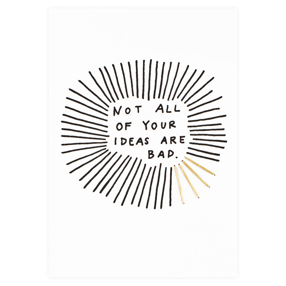 Allie Biddle Not All of Your Ideas are Bad Stitched Greeting Card