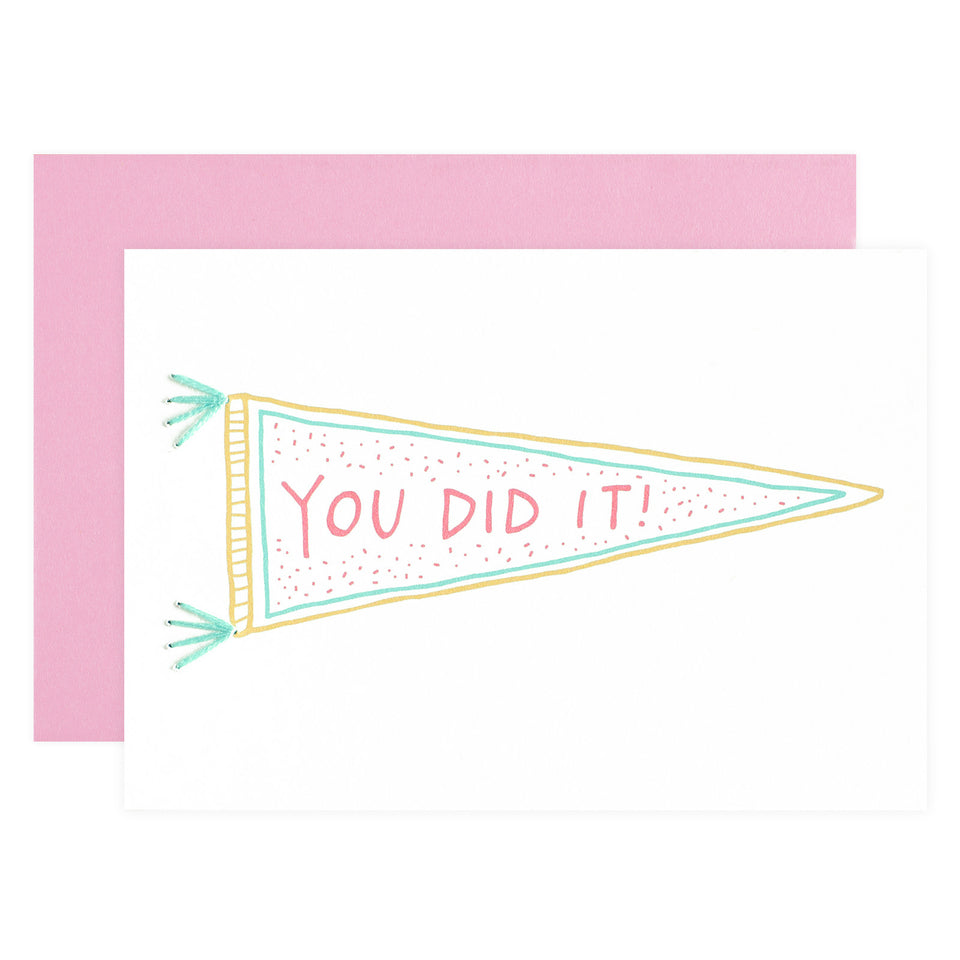 Allie Biddle You Did It Congratulations Card