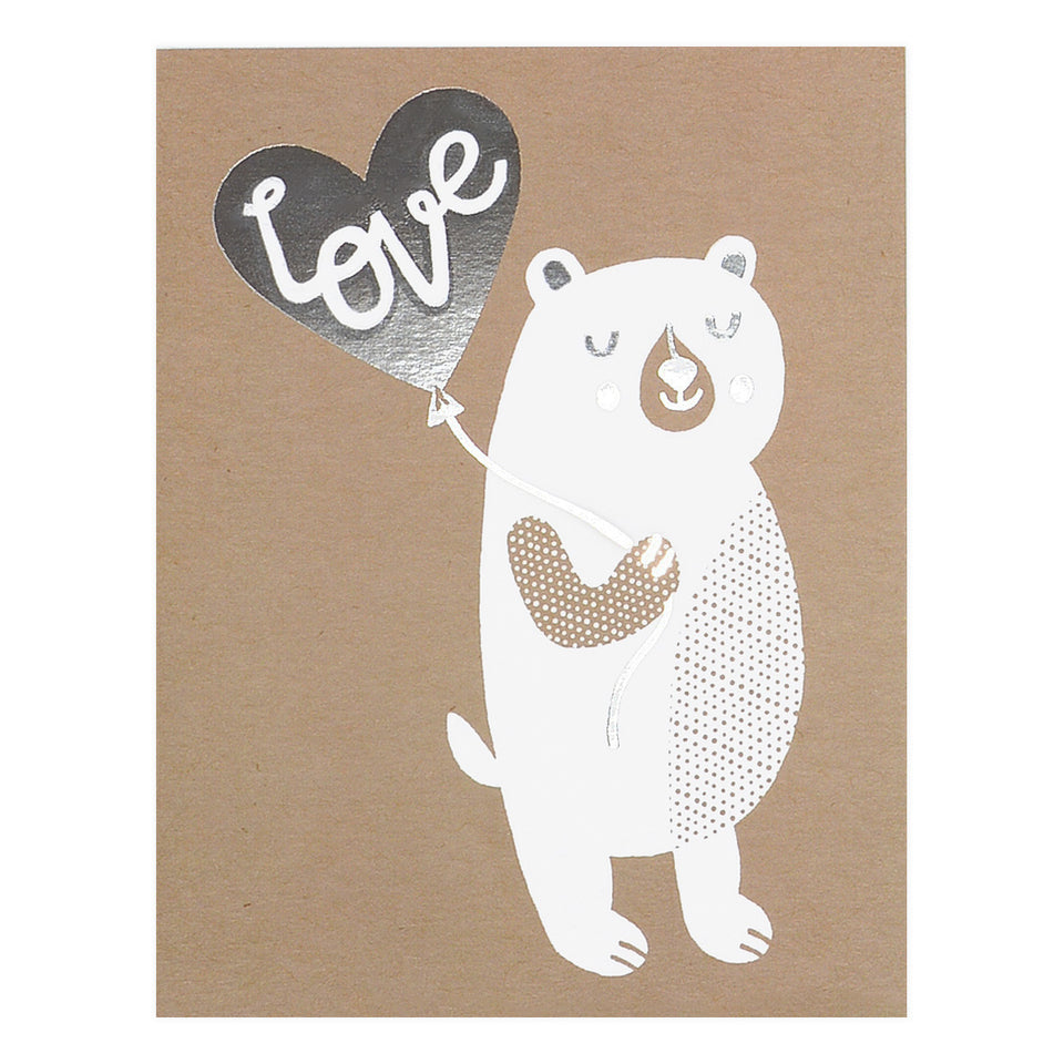 Allison Cole Love Bear Greeting Card