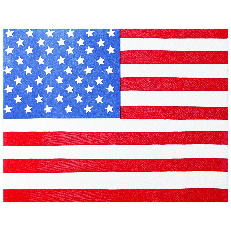 Printerette Press American Flag Greeting Card