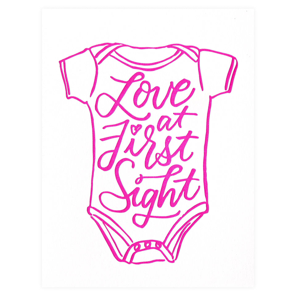 And Here We Are Love At First Sight New Baby Card