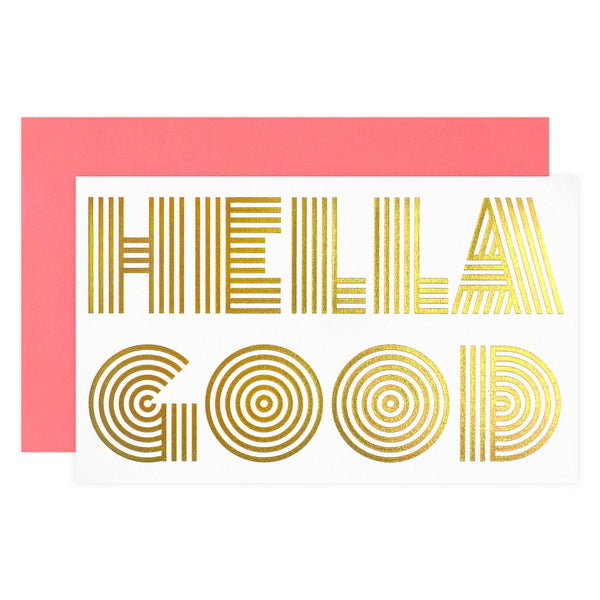 Anemone Letterpress Hella Good Greeting Card - GREER Chicago Online Stationery Shop