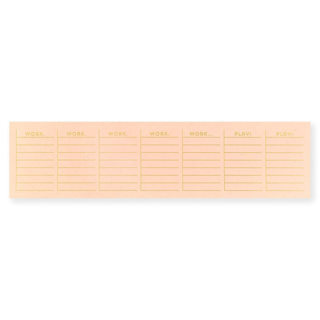 Work/Play Gold Foil Notepad