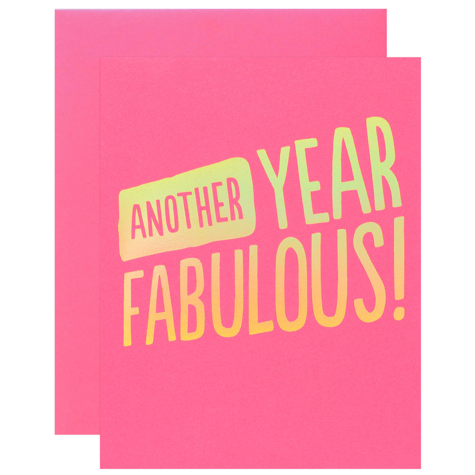 The Social Type Another Year Fabulous! Birthday Card