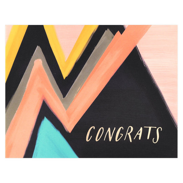 Antiquaria Abstract Congrats Greeting Card - GREER Chicago Online Stationery Shop