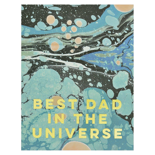 Marble Best Dad in the Universe Father's Day Card