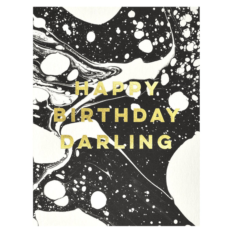 Antiquaria Marble Happy Birthday Darling Card