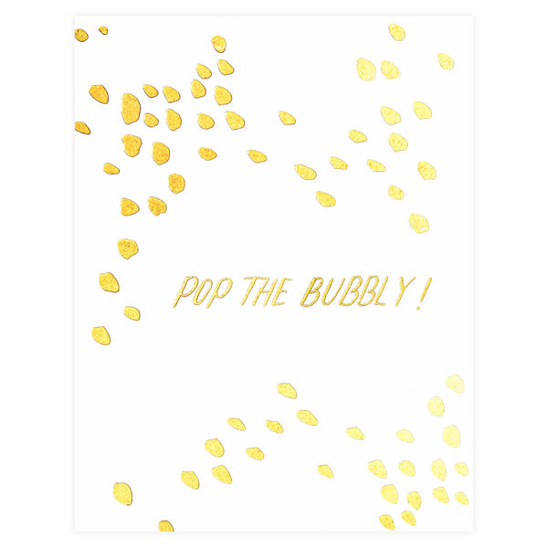 Antiquaria Pop The Bubbly Greeting Card - GREER Chicago Online Stationery Shop