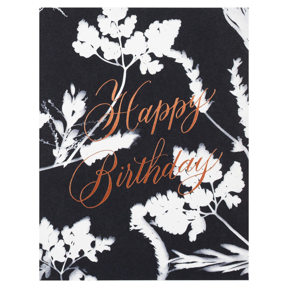 Antiquaria Sunprint Birthday Card