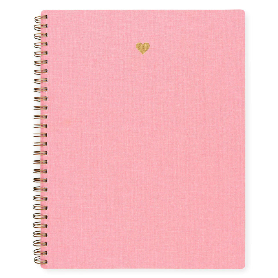 Appointed Blossom Pink Heart Notebook | Lined or Grid